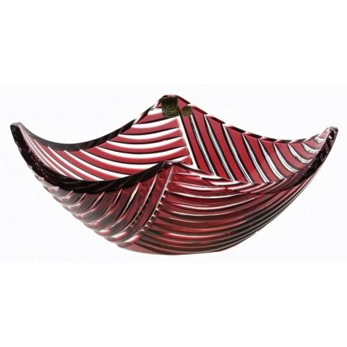 Linum kristálytál, rubinvörös színű, átmérője 280 mm