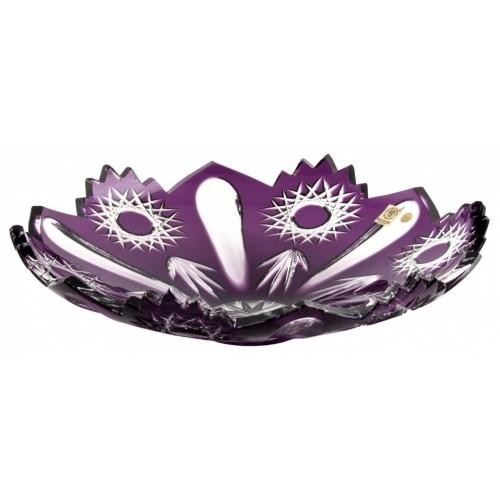 Sweet kristálytál, lila színű, átmérője 340 mm