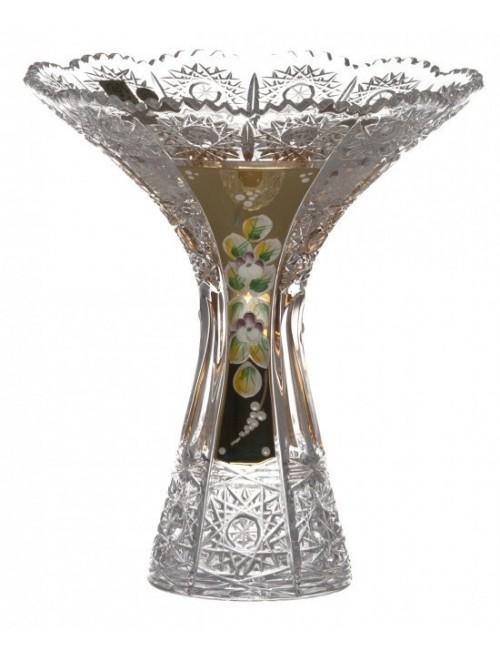 500K Arany IV kristályváza, áttetsző kristály színű, magassága 205 mm