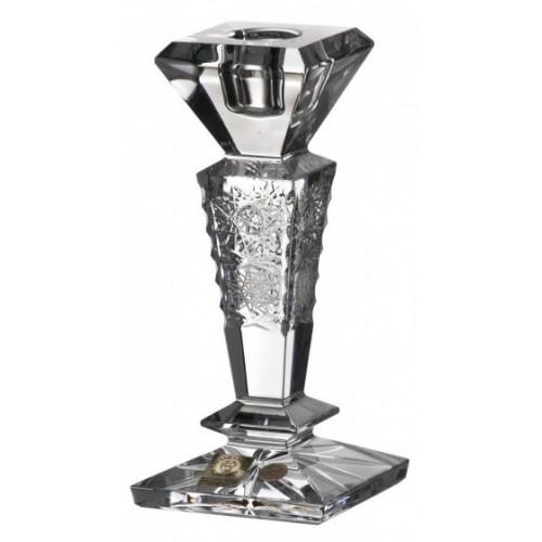 500PK kristály gyertyatartó, áttetsző kristály színű, magassága 155 mm