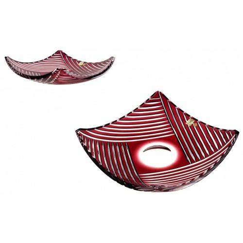 Linum kristálytál, rubinvörös színű, átmérője 350 mm
