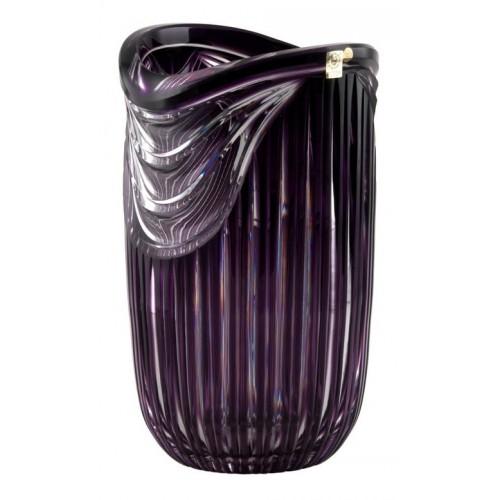 Harp kristályváza, lila színű, magassága 300 mm