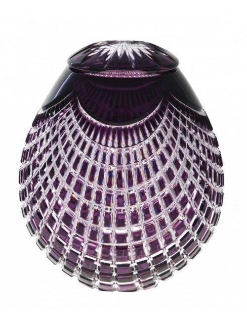 Quadrus kristályurna, lila színű, magassága 230 mm