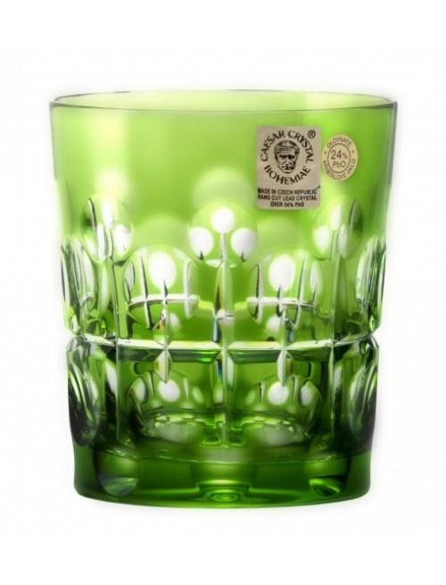 Brisk kristálypohár, zöld színű, űrmértéke 290 ml
