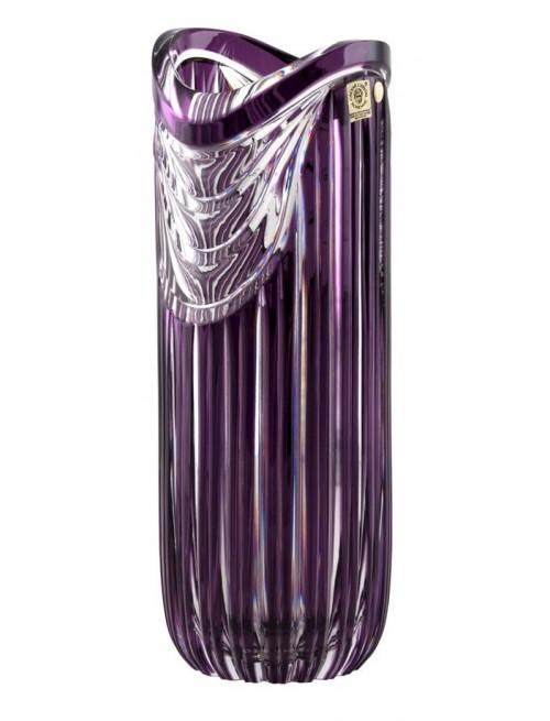 Harp kristályváza, lila színű, magassága 320 mm
