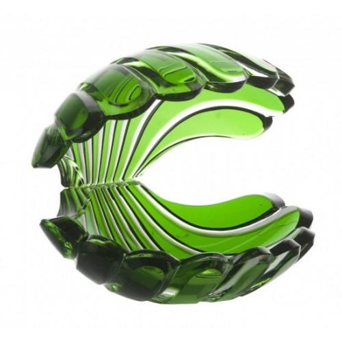 Kristálykagyló, zöld színű, magassága 140 mm