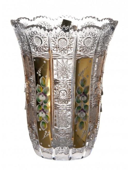 500K Arany V kristályvázaI, áttetsző kristály színű, magassága 205 mm