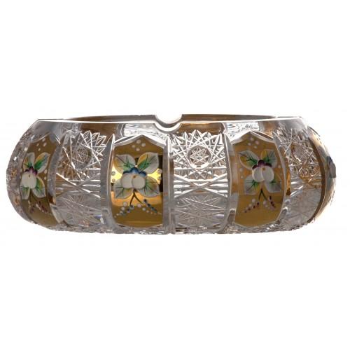 500PK Arany kristály hamutál, áttetsző kristály színű, átmérője 180 mm