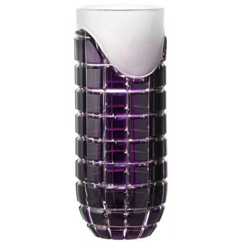 Neron kristályváza, lila színű, magassága 300 mm