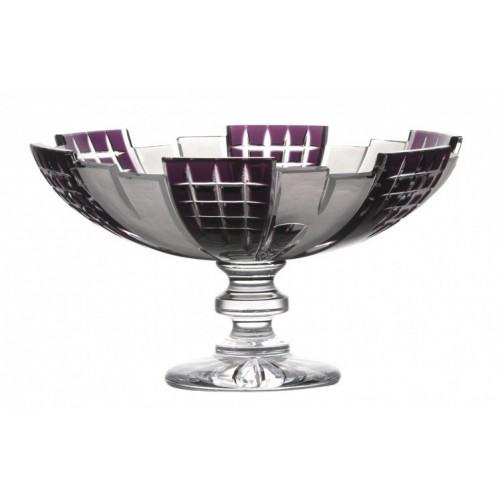Metropolis kristály dísztál, lila színű, átmérője 280 mm