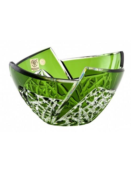 Fan kristálytál, zöld színű, átmérője 180 mm