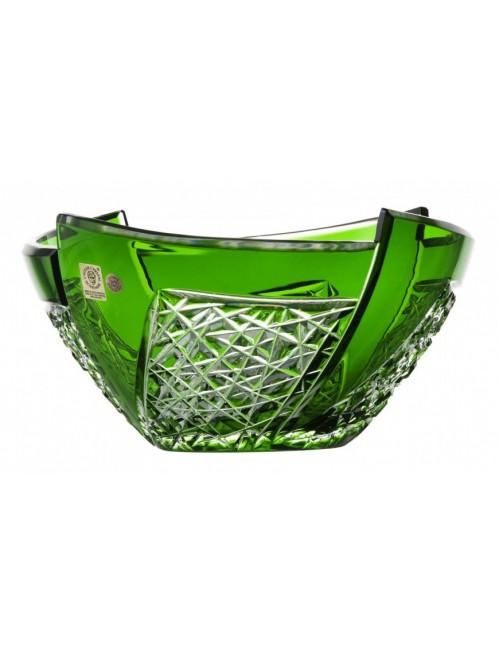 Fan kristálytál, zöld színű, átmérője 225 mm