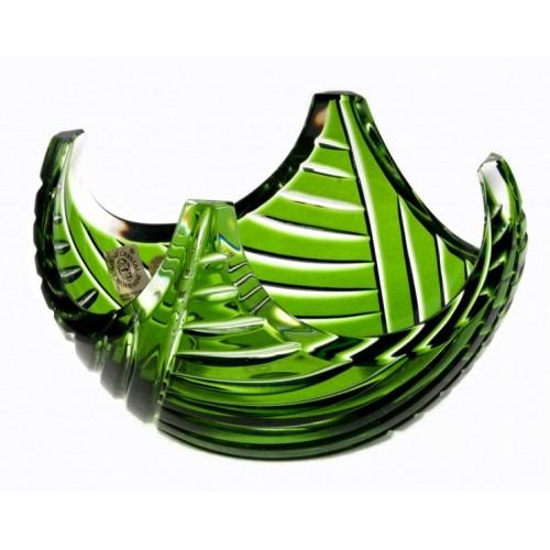Linum kristálytálka, zöld színű, átmérője 140 mm