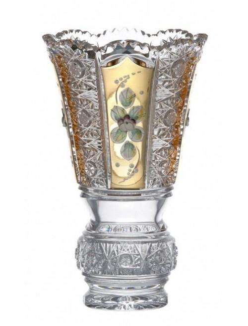 500 K Gold kristályváza, áttetsző kristály színű, magassága 205 mm