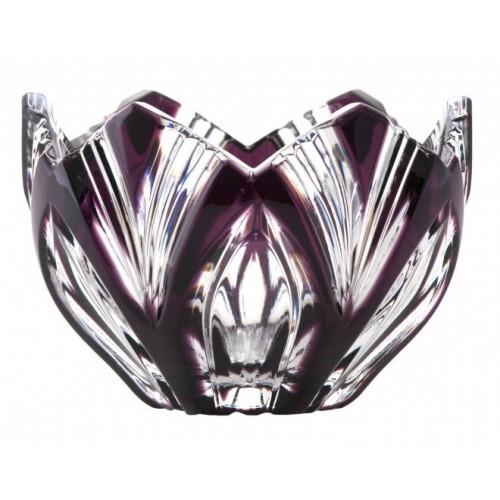 Lótusz kristálytálka, lila színű, átmérője 85 mm
