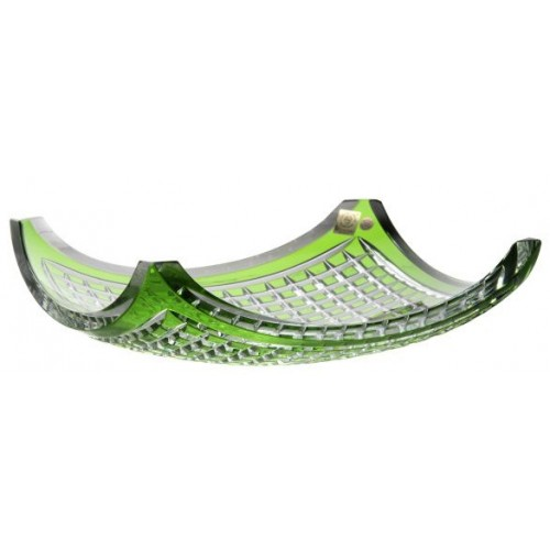 Quadrus kristálytál, zöld színű, átmérője 350 mm