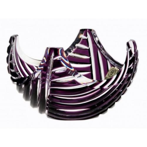 Linum kristálytálka, lila színű, átmérője 140 mm