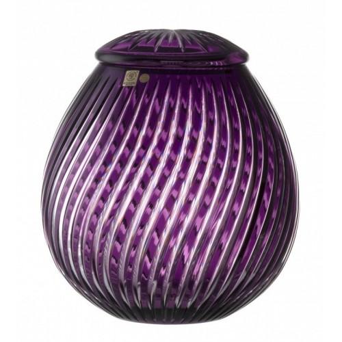 Zita kristályurna, lila színű, magassága 290 mm