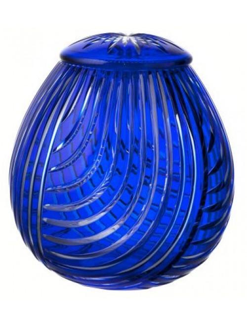 Linum kristályváza, kék színű, magassága 290 mm