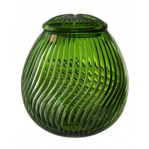 Zita kristályurna, zöld színű, magassága 290 mm
