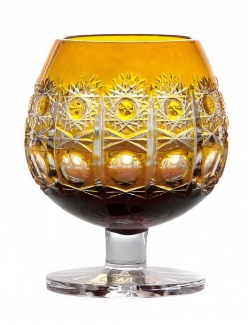Brandy Petra kristálypohár, borostyán színű, űrmértéke 230 ml