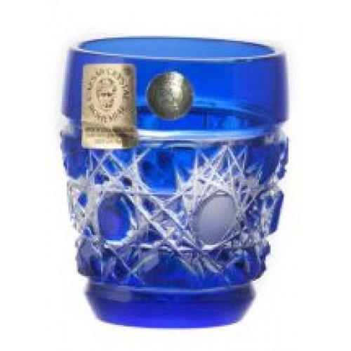 Flake kristálypohár, kék színű, űrmértéke 50 ml