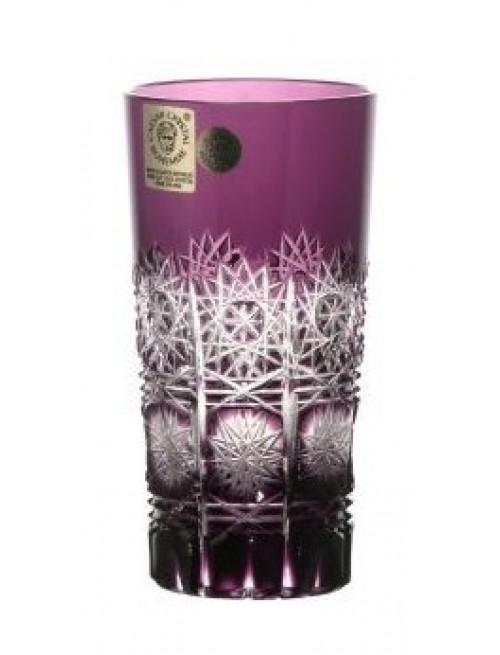 Paula kristálypohár, lila színű, űrmértéke 100 ml