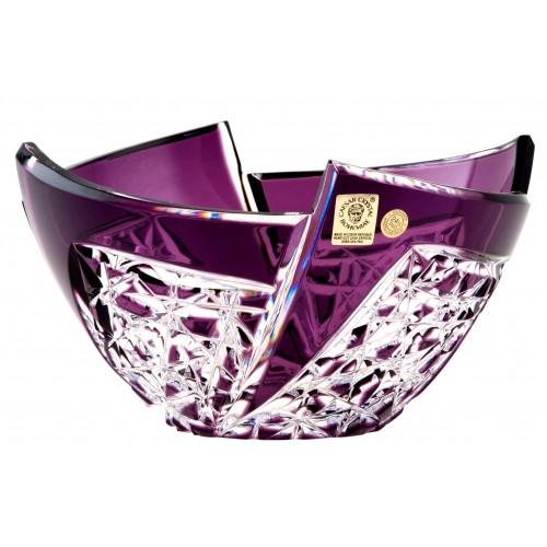 Fan kristálytál, lila színű, átmérője 180 mm