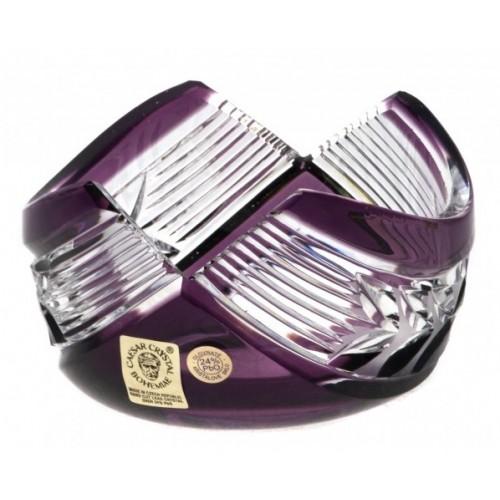 Laurel kristálytálka, lila színű, átmérője 100 mm