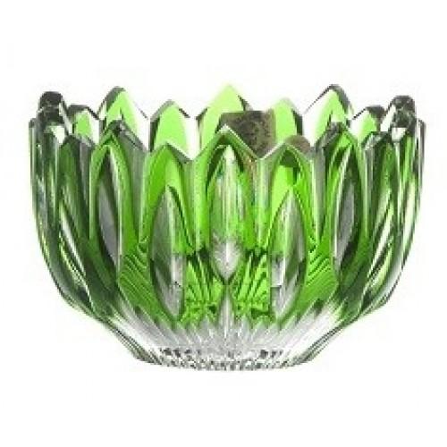 Flame kristálytálka, zöld színű, átmérője 110 mm