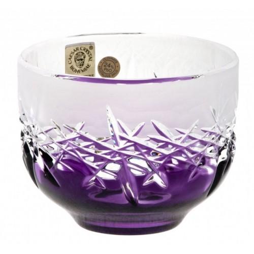 Hoarfrost kristálytálka, lila színű, átmérője 95 mm