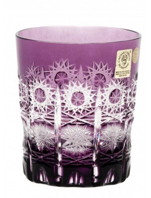 Paula kristálypohár, lila színű, űrmértéke 290 ml