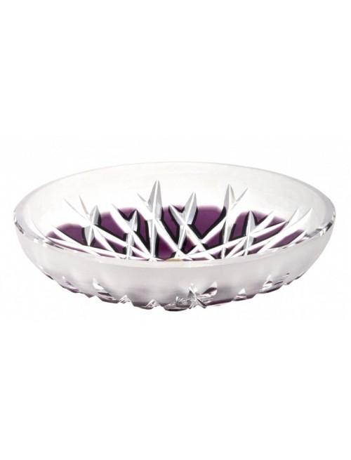Hoarfrost kristálytányér, lila színű, átmérője 145 mm