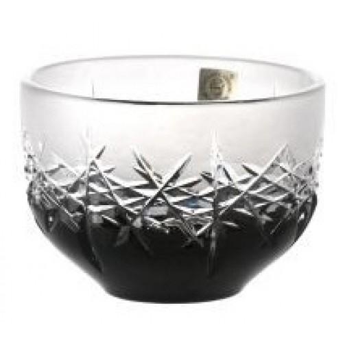 Hoarfrost kristálytálka, fekete színű, átmérője 110 mm