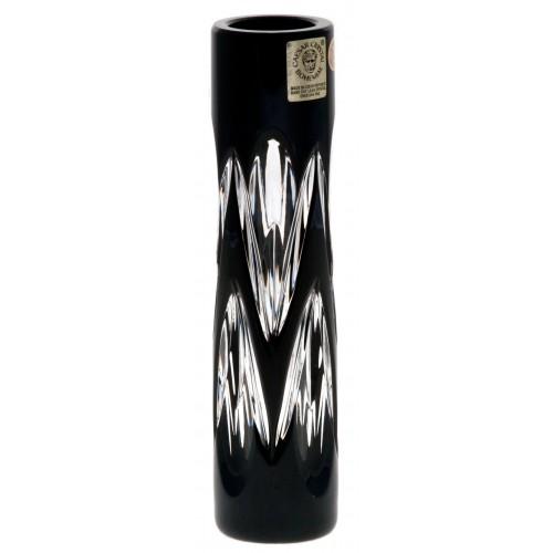Snowdrop kristályváza, fekete színű, magassága 155 mm