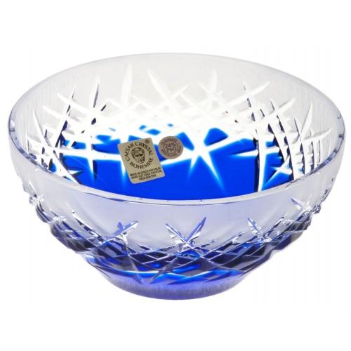 Hoarfrost kristálytálka, kék színű, átmérője 130 mm