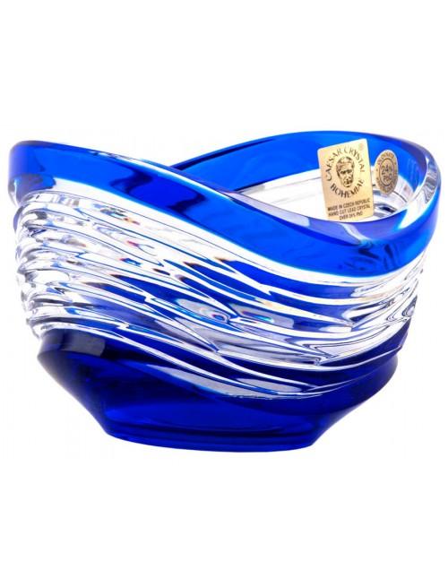 Poem kristálytálka, kék színű, átmérője 95 mm