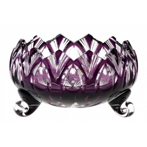Lótusz kristálytálka, lila színű, átmérője 102 mm
