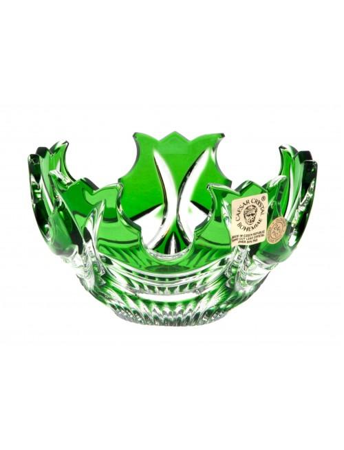 Diadem kristálytálka, zöld színű, átmérője 100 mm