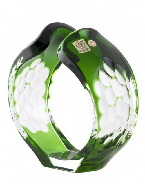 Sírius kristály gyertyatartó, zöld színű, magassága 165 mm