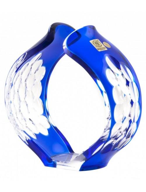 Sirius kristály gyertyatartó, kék színű, magassága 165 mm