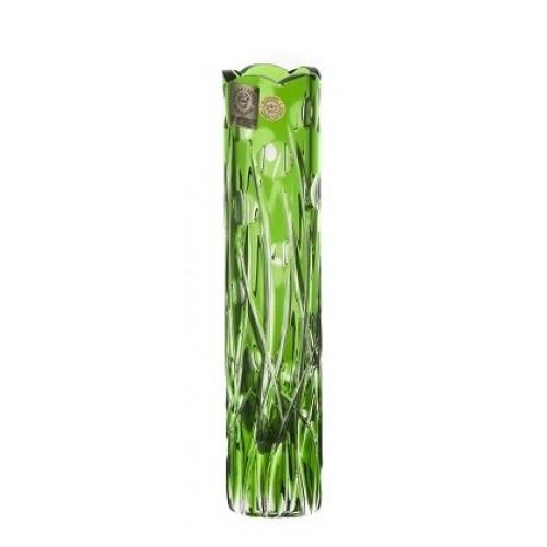 Heyday kristályváza, zöld színű, magassága 180 mm