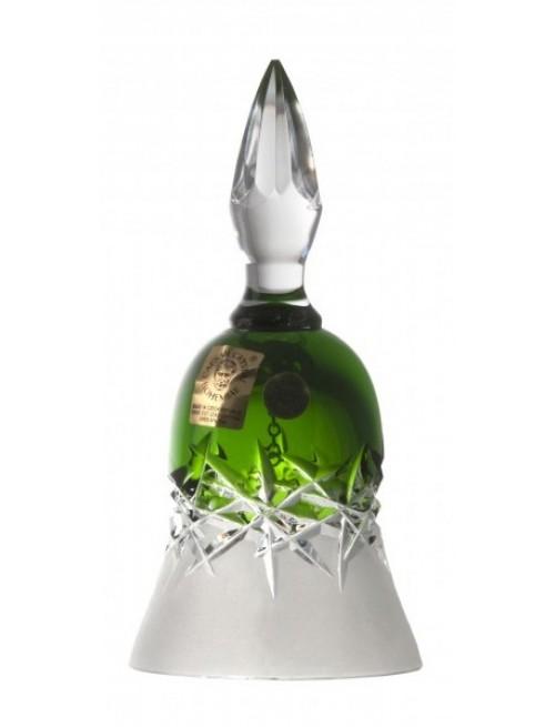 Hoarfrost kristálycsengő, zöld színű, magassága 126 mm
