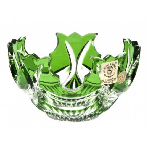 Diadém kristálytálka, zöld színű, átmérője 130 mm