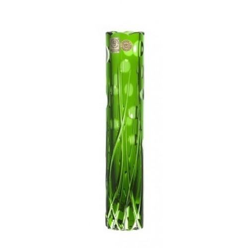 Heyday kristályváza, zöld színű, magassága 230 mm