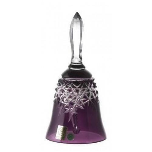New Milenium kristálycsengő, lila színű, magassága 165 mm