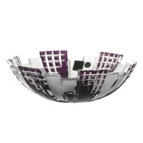 Metropolis kristálytál, lila színű, átmérője 180 mm