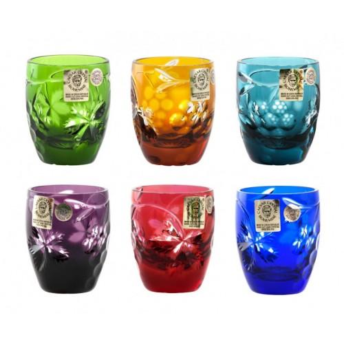 Grapes kristály pohár készlet, szín mix, űrmértéke 50 ml