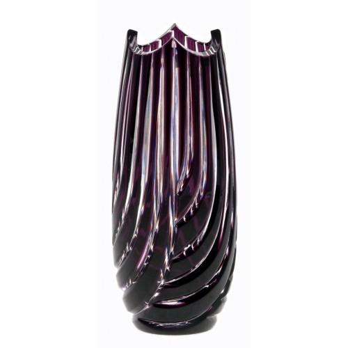 Linum kristályváza, lila színű, magassága 180 mm