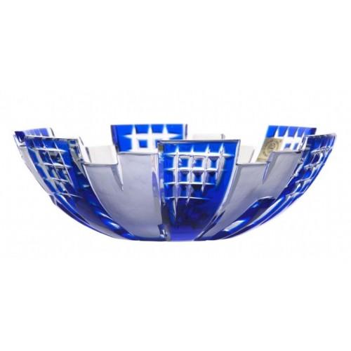 Metropolis kristálytál, kék színű, átmérője 180 mm